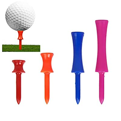 NUOLUX 4 Sizes Golf Step Down Tees Plastic Step Golf Tees (40 Count)