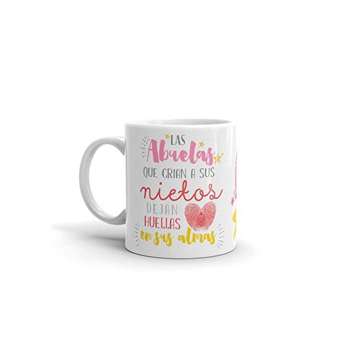 41gDgprVizL ✅ACCESORIO DIVERTIDO: Ahora la Abuela puede disfrutar de una taza de café o té caliente en una taza de cerámica elegante que hará que todas las mañanas sean más fáciles y relajantes. ✅GRAN REGALO: La taza la Abuela es un excelente regalo para Navidad, cumpleaños, aniversario, dia del padre... esas bonitas tazas son una forma maravillosa de expresar su respeto y admiración hacia su Abuelo. Regalos originales que transmiten a nivel emocional, tu abuela quedara sorprendido. ✅CALIDAD PREMIUM: La bonita taza de regalo para abuela está hecha completamente de cerámica con materiales resistentes y duraderos. Las tazas de café son aptas para el lavavajillas y microondas, así puede ahorrar tiempo y energía en la mañana preparando su bebida favorita.