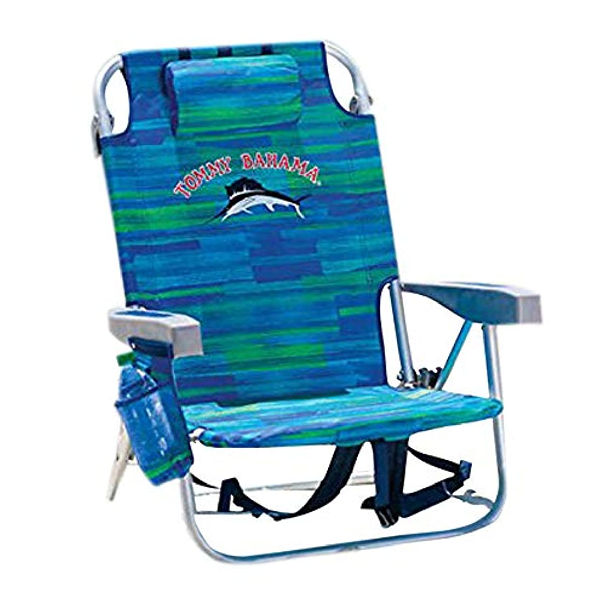 DESCRIPTION. This Tommy Bahama Backpack Beach Chair ...  sc 1 st  eBay & Tommy Bahama Backpack Cooler Chair with Storage Pouch and Towel Bar ...