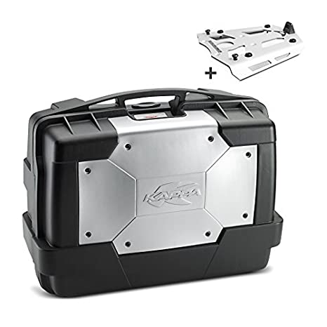 cdb5a38b361 Amazon.com : Top Case Set Ducati Multistrada 1200 10-14 Kappa Monokey KGR33  black including aluminium carrier : Automotive