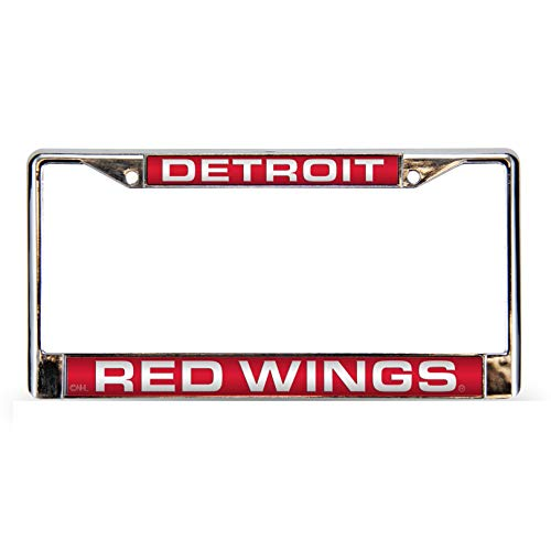 Rico Industries NHL Detroit Red Wings Laser Cut Inlaid Standard Chrome License Plate - Red Wings Detroit Laser
