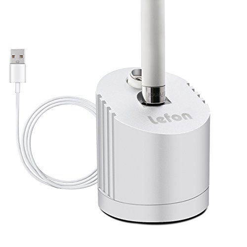 Price comparison product image Apple Pencil Charger, LEFON Apple Pencil Stand, Apple 12.9 inch 9.7 inch iPad Pro Pencil Stand, Apple Pencil Charging Dock/Station (Aluminium, Silvery) with Built-in Charging Cable(5FT)