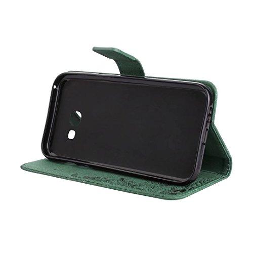 COWX Samsung Galaxy A5 2017 Hülle Kunstleder Tasche Flip im Bookstyle Klapphülle mit Weiche Silikon Handyhalter PU Lederhülle für Samsung Galaxy A5 2017 Tasche Brieftasche Schutzhülle für Samsung Gala 0c1y0Y
