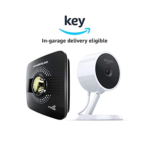 myQ Smart Garage Door Opener (Chamberlain MYQ-G0301) + Amazon Cloud Cam | Key Smart Garage Kit (Key In-Garage Delivery Eligible)