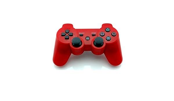 Estructura en vibración mando inalámbrico Bluetooth para PS3 consola roja: modelo 2
