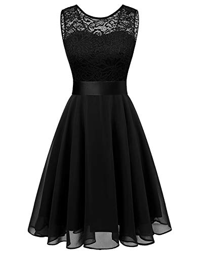 BeryLove Women's Short Floral Lace Bridesmaid Dress A-line Swing Party - Cocktail Dresses Fancy