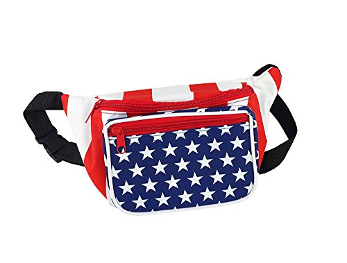 Usa Costume For United Nation (Patriotic Fanny Pack With Stars And Stripes Design (American Flag))