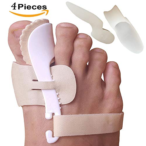 Bunion Corrector and Bunion Relief Sleeve with Gel Bunion Pads Toe separators Cushion Bunion Protector - Fight Bunions, Hallux Valgus Correction & More! Foot Pain Relief