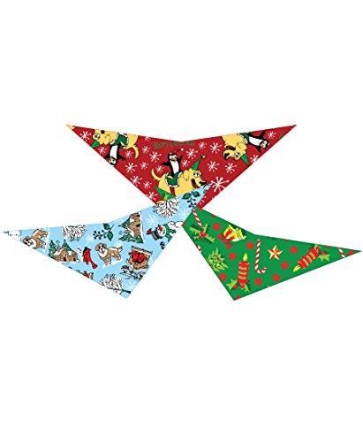 3pc Christmas Dog Triangle Bandana