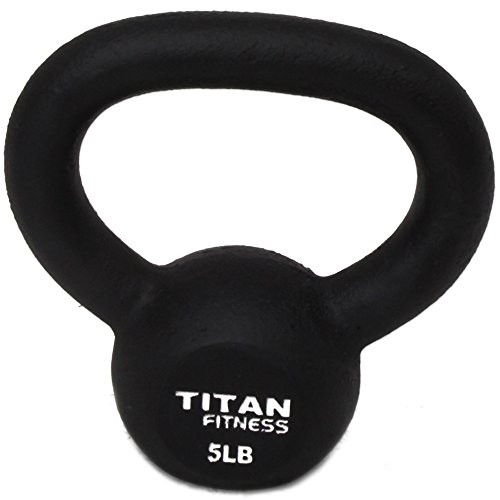 Cast Iron Kettlebell Weights Set 5 10 15 lb Solid Titan Fitness Fit