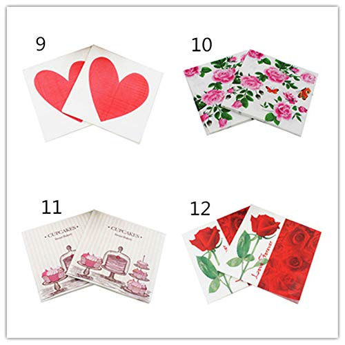 Fansi 2BAGS//40PCS Home Care Napkins Cute Cartoon Bee Pattern Napkins Wedding Party Tablemat Care Cleaning Napkins For Party Supplies Tableware