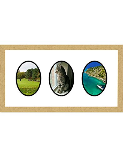 (Frames by Mail multimat-58683-aam0114 Triple Oval Opening Collage Frame for 4