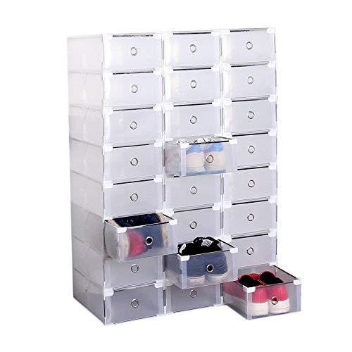 Set De 24 Piezas Plegables / Apilables Diy Modular Armario De Plástico Transparente Organizador De La Caja De Almacenamiento...