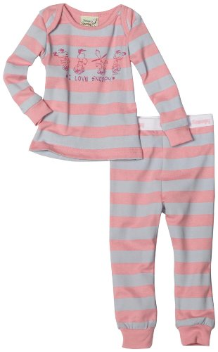Franco Apparel Baby Girls' Peanuts 1x1 Rib Tight Fitted Sleepwear