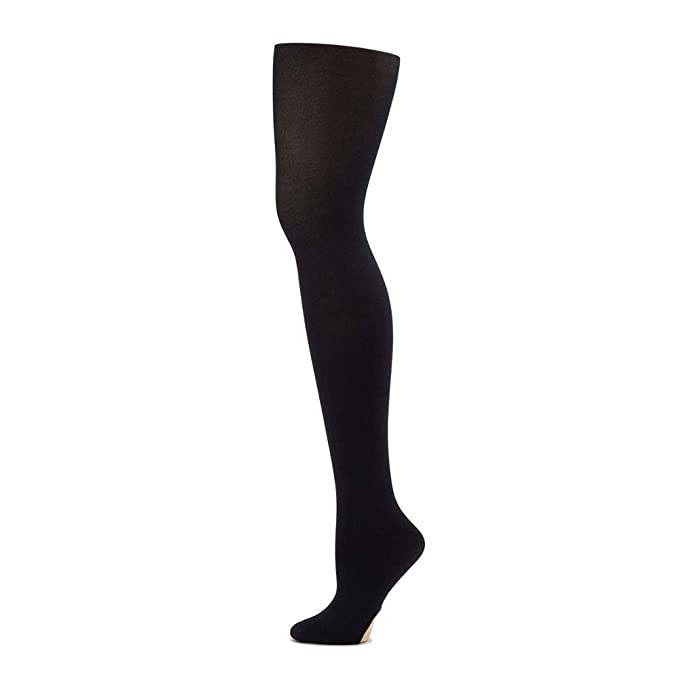 Black Capezio hold and stretch Transition dance tights Adult small N15