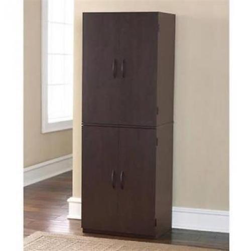 Cherry Storage Cabinet Kitchen Pantry Organizer Wood Furniture