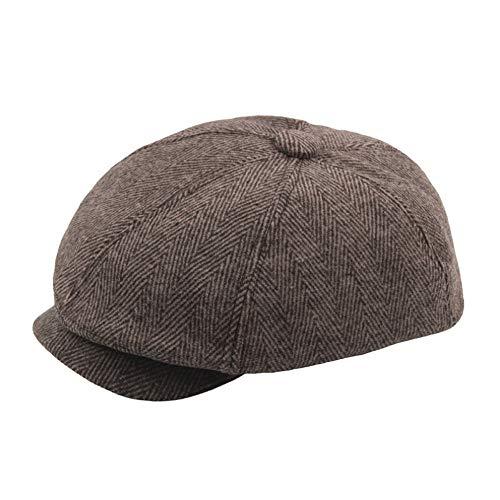 winter hat WomenUnisex Vintage Twill Cotton Hat Winter Crushable Baseball Cap Vintage Unadjustable Hat (Khaiki)