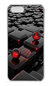 iPhone 5 5S Case 3D Cube PC Custom iPhone 5 5S Case Cover Transparent