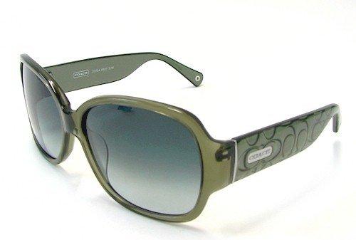 9efde581e402 COACH Odessa S822 Sunglasses S-822 Olive Frame: Amazon.co.uk: Clothing