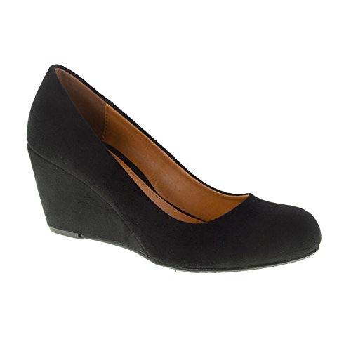 CL by Laundry Women's Nima Super Suede Wedge Pump - Black...