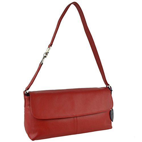 donna Borsa Mala Mala mano a Leather Leather rosso Rosso rosso qpPYwP7t