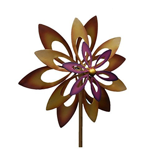 Home Locomotion 10016772 Koehler Home Decor Dancing Sunflower Windmill Garden Spinner, Multicolor