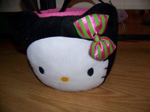 Hello Kitty Plush Treat Basket Bag Hairbow colors vary