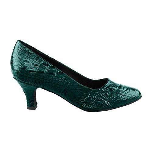50 Tinten Blauw / Paars Dansjurk Schoenen Collectie, Bruiloft Pumps: Dames Ballroom Schoenen Voor Latin, Tango, Salsa, Swing, Theather Kunst Door Party Party (2,5, 3 & 3,5 Hakken) Sera5513- Turquoise Croc