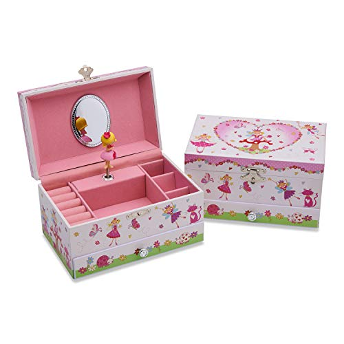 Lucy Locket Enchanted Fairy Musical Jewelry Box for Children - Glittery Kids Music Box with Ring Holder (Fairy Music Box)