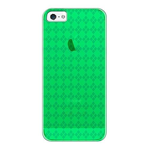 Katinkas KATIP51071 Soft Cover für Apple iPhone 5 Checker grün