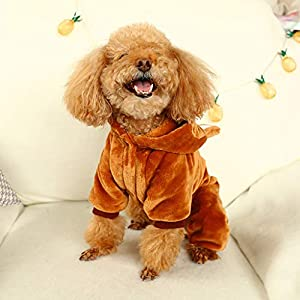 Sunward Baby Boys' Puppy Clothes, Pet Keep Warm Squirrel Decoration Coat Autumn and Winter Cute Small Dog Cat Pet Clothing Dog Apparel