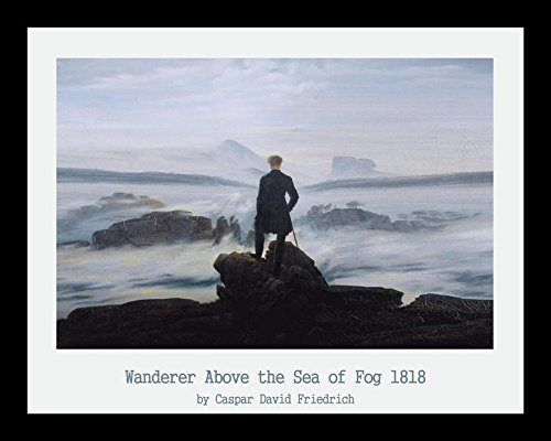 (Buyartforless Framed Wanderer Above The Sea of Fog 1818 by Caspar David Friedrich 14x11 Museum Art Print Poster)