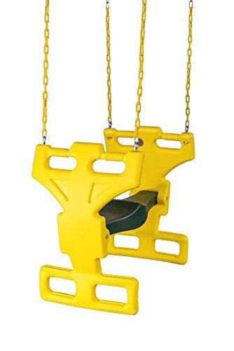 CREATIVE CEDAR DESIGNS Multi Child Glider Swing, Yellow & Green, One Size by CREATIVE CEDAR DESIGNS