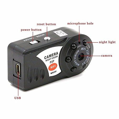 Amazon.com : WiFi Spy Camera Mini Q7 Camera DV DVR Wireless Nanny IP Cam Brand New Mini Video Espia Camcorder Recorder Infrared Night Vision : Camera & ...