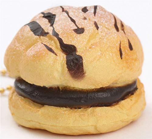 Cafe de N Small Cream Puff Chocolate Filling Icing Sugar Squishy Charm