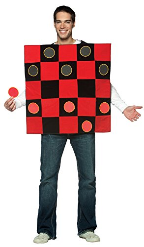 UHC Men's King Me Checkers Funny Comical Theme Party Halloween Fancy Costume, OS - Plus Size Checkers Costumes
