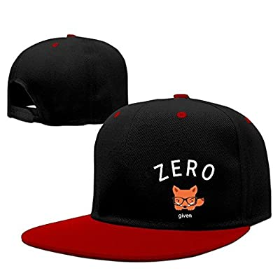 Unisex Zero Fox Given Hiphop Flat Brim Snapback Caps Plain Cotton Baseball Cap for Men