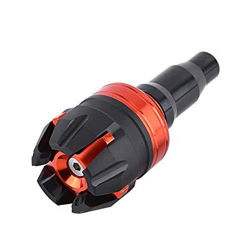 Ruiqas Crash Protector, New Motorcycle CNC Aluminum Alloy Frame Slider Falling Protector Anti Crash Caps Red (Color : Orange)