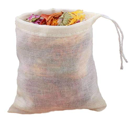 FidgetGear 10/100 Pack Cotton Muslin Drawstring Bags Soap Herbs Tea Reusable Packing Bath 10''x12'' 100 by FidgetGear (Image #6)