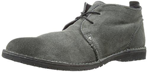 Crevo Mens Longport Chukka Boot In Pelle Scamosciata Color Carbone