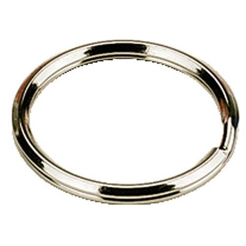 Keys-Cut - Pack de 100 Anneaux en Nickel pour Porte-Clés - 25 mm chacun
