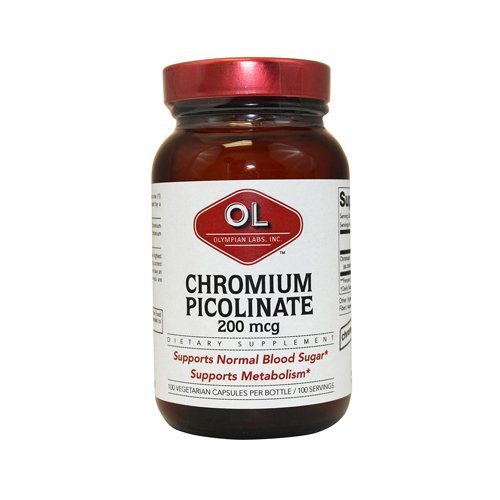 Olympian Labs Super Chromium Picolinate - 200 mcg - 100 capsules - pack of - 1