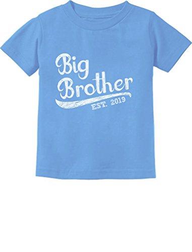 Tstars - Gift for Big Brother 2019 Siblings Gift Toddler Kids T-Shirt 5/6 California Blue