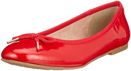 22123 Tamaris Rouge chili Ballerines 21 Patent Femme 520 f4Ux4