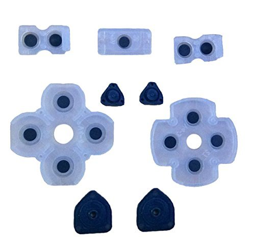 Honbay Replacement Parts All Set Of Key Pad Button Pad Conductive Buttons Kit for Playstation 4 PS4 Controller