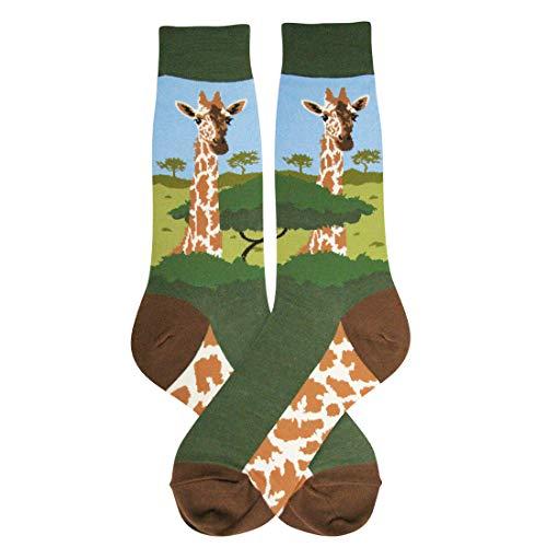 Foot Traffic - Men's Animal-Themed Socks, Fits Mens Shoe Sizes 7-12 -