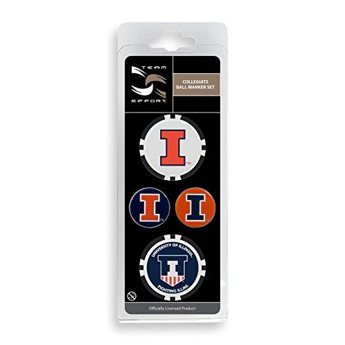 Team Effort Illinois Fighting Illini Ball Marker Set