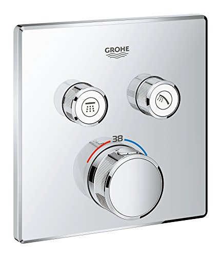 GROHE 29124000 | Grohtherm SmartControl Thermostat Concealed | Square | 2 Valves