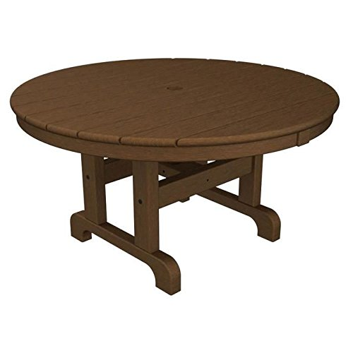 Polywood Round 36 Inch Conversation Table in Teak