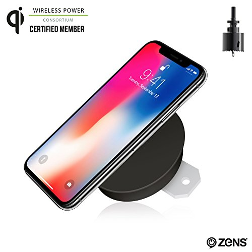 Built-in Wireless Phone Charger by ZENS | Enables Furniture Integrated Qi Charging | Works with New iPhone 8/8+/X, Samsung Galaxy S6, S7, S8, Android, and All Other Qi Enabled Devices